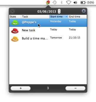 Hats for Mac: viewing tasks