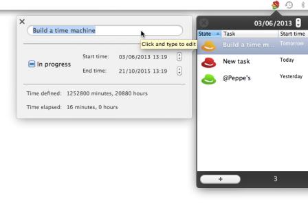 Hats for Mac: task details
